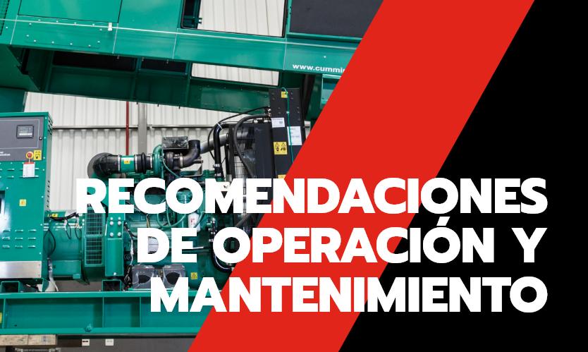 recomendaciones de operación y mantenimiento, Trienergy Energía